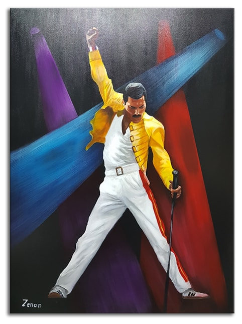 freddy mercury queen schilderij min